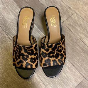 Franco Sarto Cheetah mules